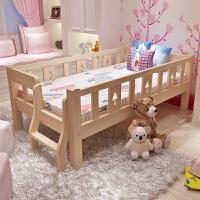 实木儿童床带护栏男孩女孩单人床小孩床床婴幼儿床儿童拼接床