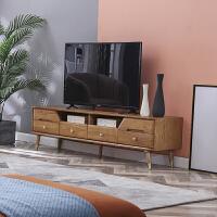 北欧电视柜地柜组合客厅卧室白蜡木原木现代简约小户型全实木家具 整装