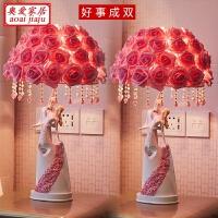 创意结婚礼物新婚庆闺蜜卧室订婚房摆件实用*品欧式装饰品台灯 【一对】+