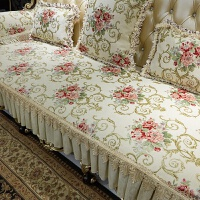 欧式沙发垫四季通用布艺防滑客厅坐垫123组合真皮新款套