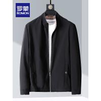 【1件1折价:119】【清仓】罗蒙男士夹克衫2021春季新款纯色短款外套中青年时尚休闲立领上衣