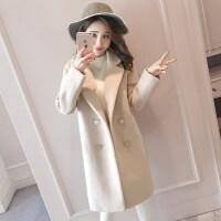 毛呢大衣女2018新款小个子中长款森系学生外套呢子大衣加厚秋冬款
