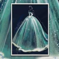 钻石十字绣结婚礼物 5d钻石画满钻石绣婚纱客厅卧室点钻十字绣结婚庆简约现代g