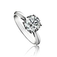 梦克拉  18K金钻石戒指  依恋  40分钻石结婚求婚女款婚戒结婚钻石戒指 可礼品卡购买