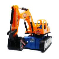 儿童万向电动挖土机挖掘机挖机玩具工程车婴儿玩具车0-1-3岁男孩