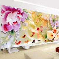 2019新品满绣精准印花十字绣新款客厅大幅花开富贵牡丹花百合花植物花卉