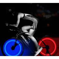 自行车钢丝灯夜骑装饰灯柳叶辐条灯山地车死飞骑行装备风火轮