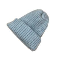 帽子女冬季纯色百搭多色针织帽韩版休闲英伦毛线帽潮冷帽套头帽男 M(56-58cm)