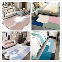 地毯羊毛北欧卧室客厅免洗满铺可爱床边茶几垫网红同款可睡坐