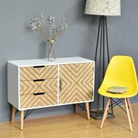 美式家具斗柜子储物白色欧式玄关卧室电视柜样板房大柜子