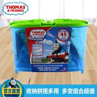 托马斯和朋友电动系列之多变轨道拼搭桶DPK71 儿童早教益智玩具车托马斯