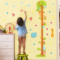 可移除墙贴儿童房客厅卡通宝宝量身高尺墙面装饰贴画动物身高贴纸 大