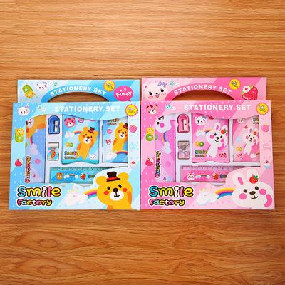 创意儿童文具套装学生可爱礼物奖品赠品礼盒卡通学习用品厂家批发
