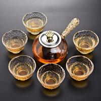 【好货】玻璃功夫茶具套装 家用整套耐热玻璃茶壶茶杯茶道茶具套装