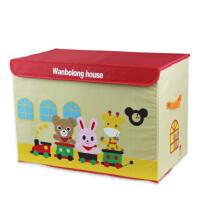 包邮!万波龙 加大号卡通收纳箱 牛津布整理箱 儿童玩具收纳盒 60*40*35 可折叠