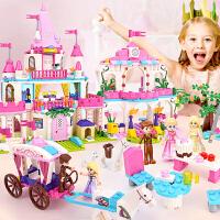 儿童玩具3-6周岁女孩legao积木拼装房子9别墅10公主城堡8益智力12