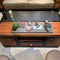 【新品热卖】新中式真皮沙发组合现代禅意中国风沙发大户型别墅实木客厅家具 其他