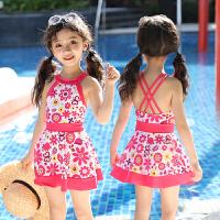 儿童泳衣女小公主女童游泳衣中大童宝宝泳装可爱