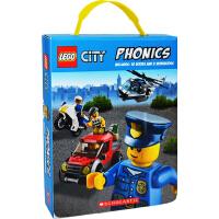 Lego City Phonics 自然拼读法教材 乐高城市系列书 12册礼盒装 少儿童英语识字
