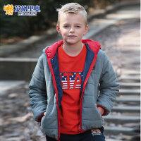 英格里奥童装冬装新款男童棉衣儿童棉袄短款休闲棉服LLB1543