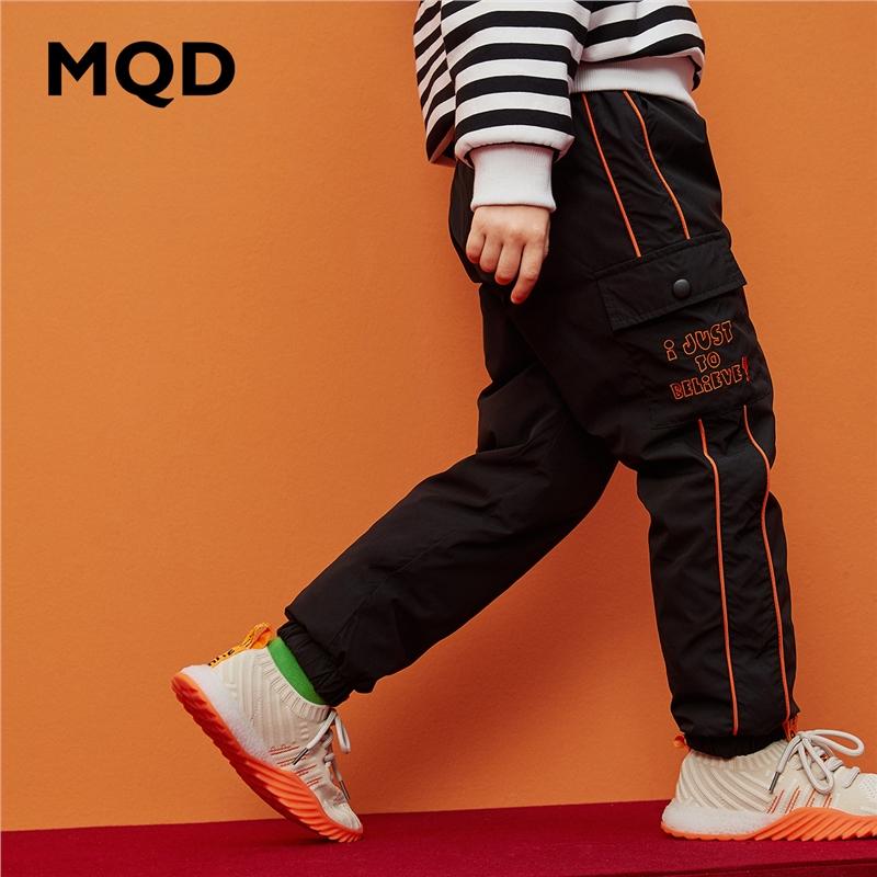 MQD男童休闲裤2019秋冬新款加厚长裤儿童保暖羽绒裤