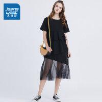 [限时秒杀:75元,仅限8.16-19]维斯连衣裙女潮2019新款夏季女士韩版黑色套头女装休闲气质女裙