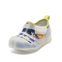 鞋柜童鞋 网布拼接透气舒适一脚蹬男童儿童休闲鞋-tt