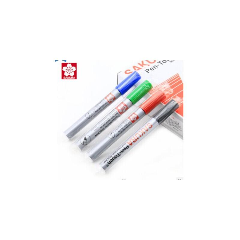 樱花单头油粗头性记号笔 箱头笔 SAKURA 樱花记号笔 标记笔 用完可加墨水 经久耐用
