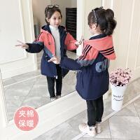 中大童夹棉加绒儿童冲锋衣2019年秋冬季新款韩版女童冬装外套