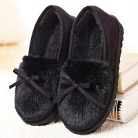 棉拖鞋包跟女月子鞋可爱冬保暖家居棉鞋毛绒拖鞋冬季外穿厚底软底