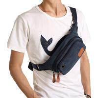 潮流运动腰包小包包  斜跨背包休闲包帆布肩包 男士胸包男包