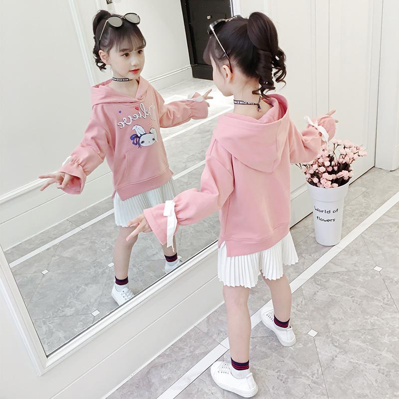 2019新款春装儿童t恤裙中大童洋气女孩裙子春秋衣服童装女童卫衣