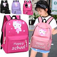 1-3-5-4-6年级小学生书包6-12周岁女孩双肩背包韩版儿童书包