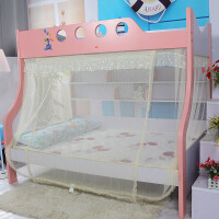 蚊帐定做上下铺双层床书架款高低床 1.2米1.5米床 魔术贴定制