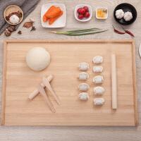 家用擀面板案板切菜面案饺子板和面板竹菜板占板大号实木砧板面板