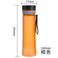 塑料太空杯 大容量运动男女士情侣便携磨砂茶水壶杯子 抖音