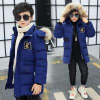 [促销]男童冬季加绒棉衣中长款中大童棉袄小男孩冬装大衣加厚外套