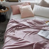 法兰绒珊瑚绒毯子毛毯冬季毛绒床单单件法莱绒午睡毯加绒双人床定制