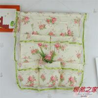 新品家居布艺蕾丝壁式多层小收纳袋 墙上挂袋 门后帆布储物袋 精美挂袋
