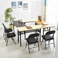 长方形折叠桌培训学习电脑桌子卧室餐桌写字会议桌家用摆摊美甲桌