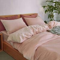 天鹅绒四件套四季加厚保暖床单被套床笠柔简约纯色1.8m床上用品定制 粉色