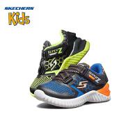 【限时抢:69元】斯凯奇童鞋 (SKECHERS)男童鞋 新款魔术贴 Z型搭带休闲鞋 轻便运动户外鞋(1岁―4岁)