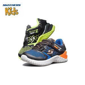 斯凯奇童鞋 (SKECHERS)男童鞋 新款魔术贴 Z型搭带休闲鞋 轻便运动户外鞋(1岁―4岁)