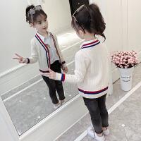 2019秋季新款韩版中大童针织衫潮儿童女童洋气开衫毛衣外套