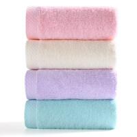 洁丽雅毛巾4条 纯棉洗脸洗澡家用男女柔软吸水不掉毛成人毛巾批发