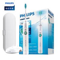 【包邮】飞利浦电动牙刷HX6730 成人充电式声波震动牙刷智能美白 3种模式 7天亮白牙齿 14天改善牙龈健康 全国联