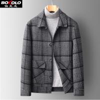 伯克龙 男士棉服中长款棉衣加厚保暖冬季新款大码爸爸装中老年休闲外套连帽 Z8801