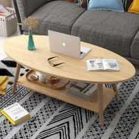 茶几简约现代客厅北欧沙发边几小户型家用小圆桌创意椭圆茶台茶桌