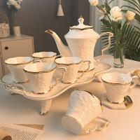【好店】�W式骨瓷咖啡杯套�b家用陶瓷客�d英式下午茶茶具茶�乇�子�Y婚�Y物 �W式咖啡具8件套【155】�Y盒�b 8件