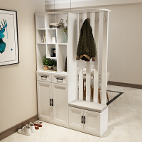 北欧玄关鞋柜简约现代门厅柜入户衣帽柜进门装饰展示柜隔断柜客厅 组装 框架结构